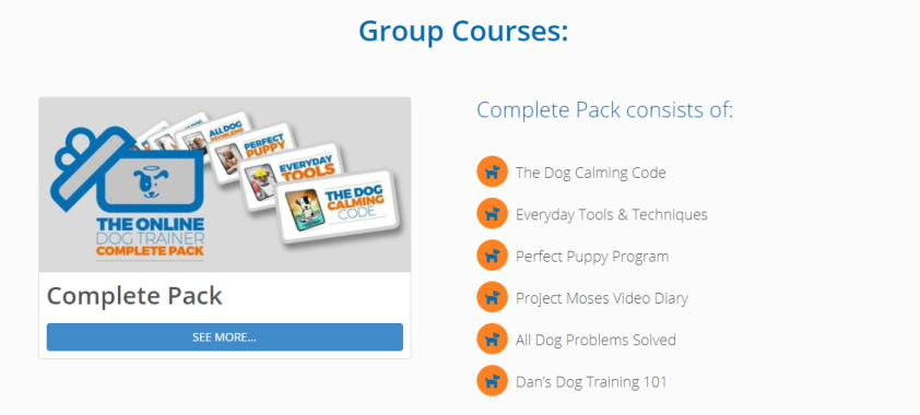 The Online Dog Trainer - Members Area Courses Page
