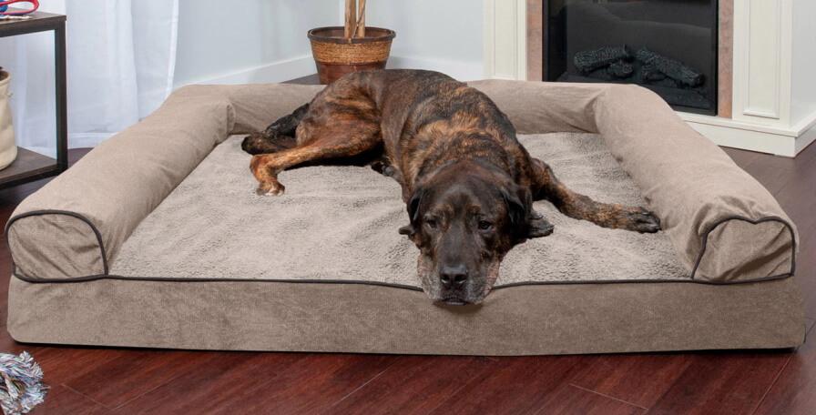 FurHaven Faux Fleece & Chenille Soft Bed