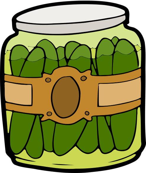 A jar of pickles