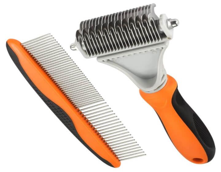 Pet grooming comb & rake