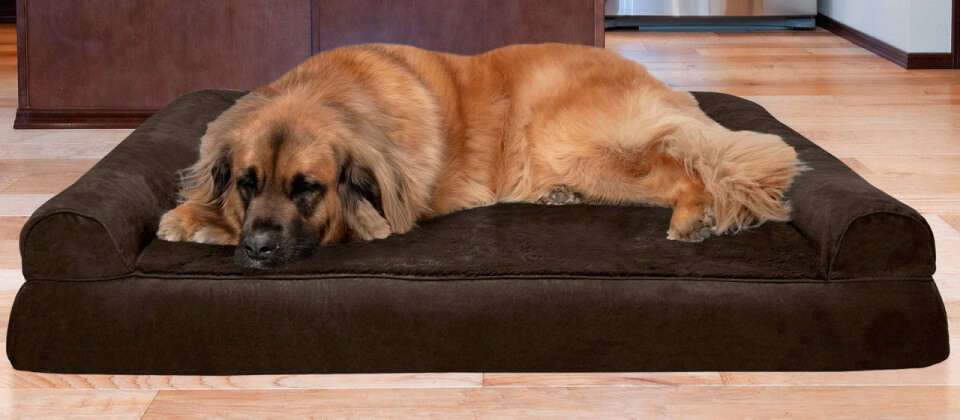 FurHaven Plush & Suede Sofa Pet Bed