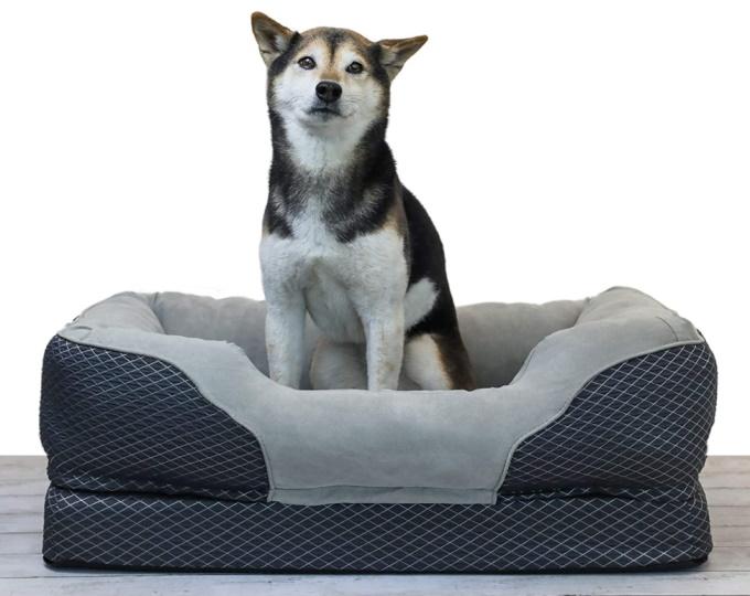 BarksBar Gray Orthopedic Dog Bed (medium)
