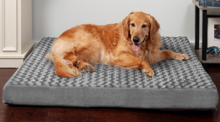 FurHaven Ultra-Plush Deluxe Mattress Bed - Gray